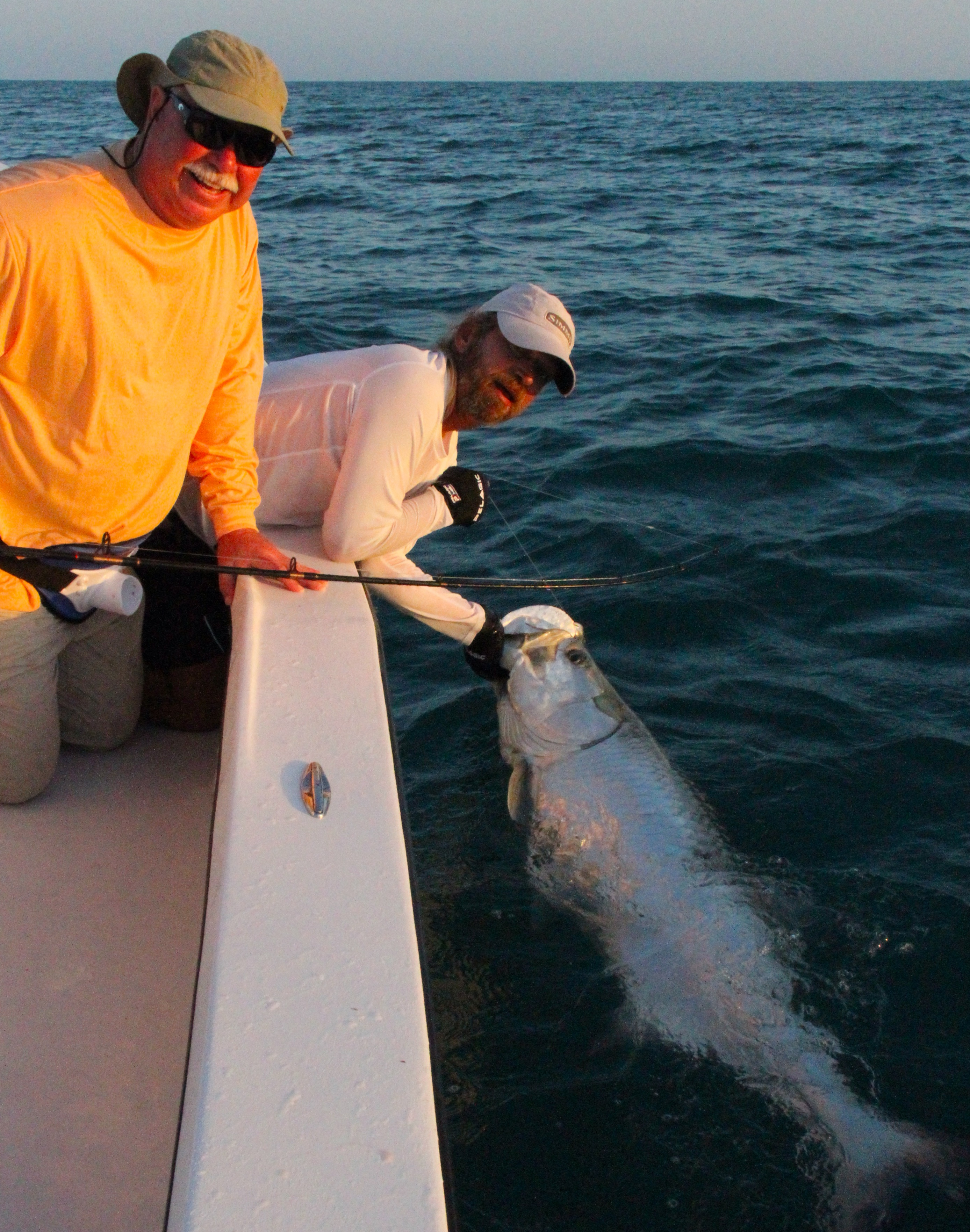 Capt. Mark Bennett tarpon fishing
